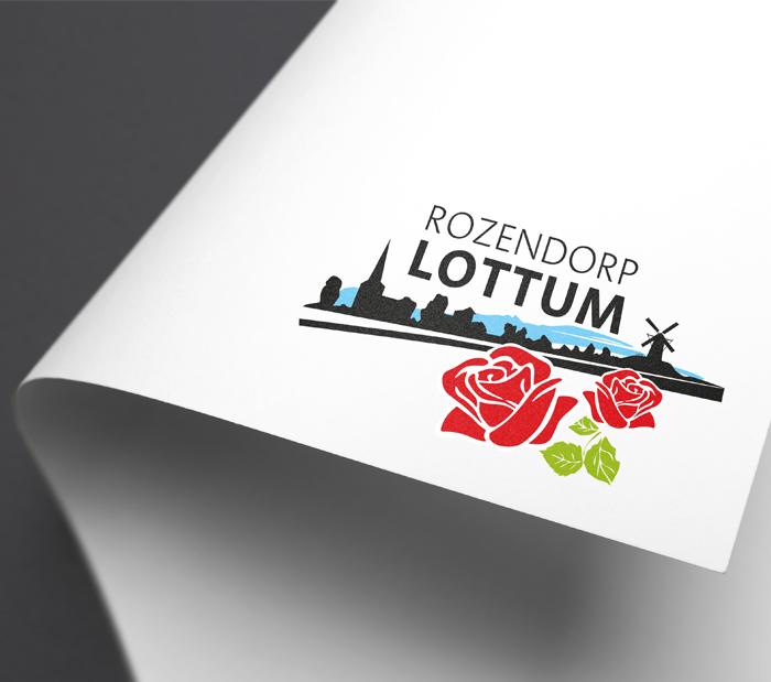 Restyle logo Rozendorp Lottum typografie illustrator opfrissen
