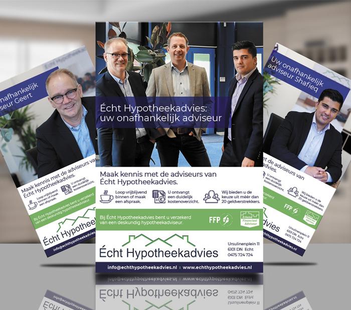 grafisch ontwerp flyers hypotheekadvies open huis